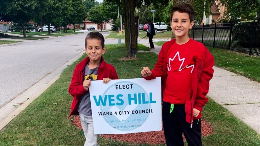 Hey Kitchener will you vote for my Dad Wes Hill? Kitchener Council Ward 4